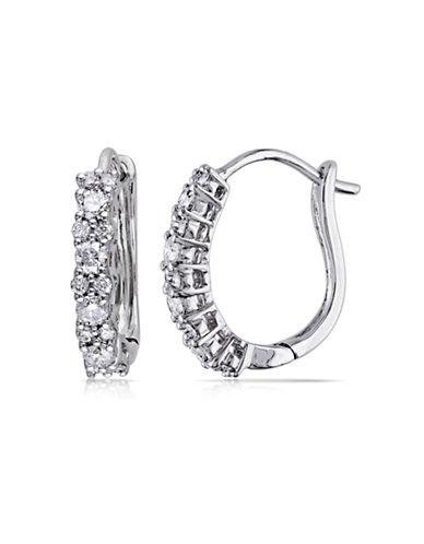 Concerto .5 CT  Diamond TW Cuff 14k White Gold Earrings-DIAMOND-One Size
