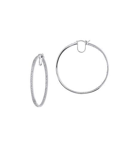 Concerto 1.8 CT  Diamond TW 14k White Gold Hoop Earrings-DIAMOND-One Size