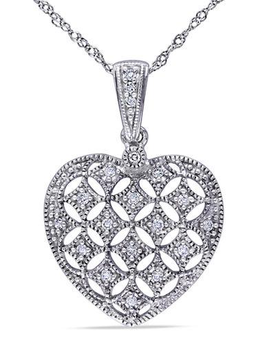 Concerto .125 CT Diamond TW Fashion Pendant With 14k White Gold Chain-DIAMOND-One Size