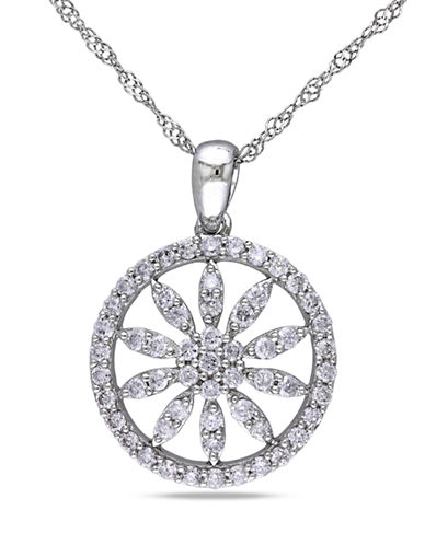 Concerto .5 CT  Diamond TW Fashion Pendant With 14k White Gold Chain-DIAMOND-One Size