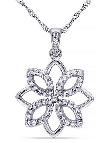 Concerto .25CT Diamond TW Fashion Pendant With 14k White Gold Chain-WHITE GOLD-One Size