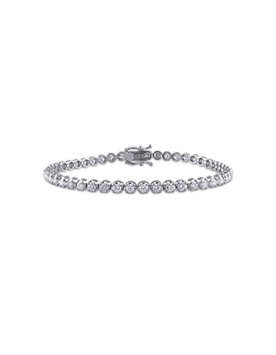 Concerto 3 CT  Diamond TW 14k White Gold Bracelet-DIAMOND-One Size