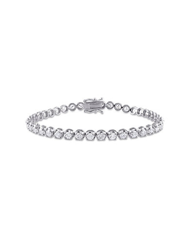 Concerto 4 CT  Diamond TW 14k White Gold Bracelet-SILVER-One Size