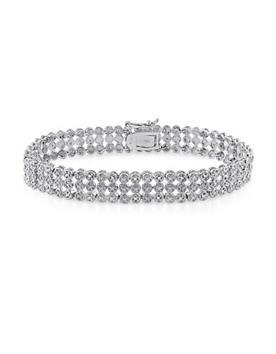 Concerto Diamond Sterling Silver Three-Row Tennis Bracelet-DIAMOND-One Size