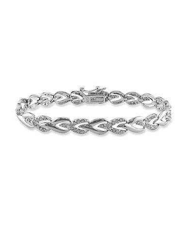 Concerto Diamond Sterling Silver Tennis Bracelet-DIAMOND-One Size