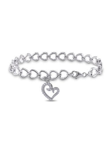 Concerto Diamond Sterling Silver Charm Bracelet-DIAMOND-One Size