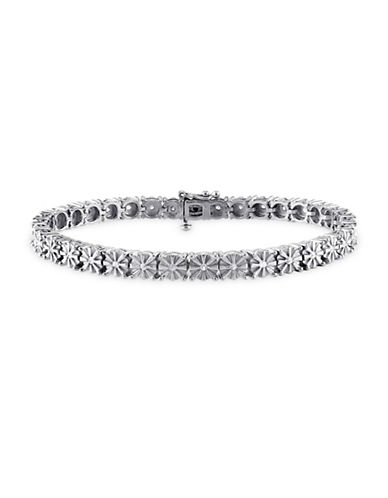 Concerto Pave Diamond Sterling Silver Tennis Bracelet-DIAMOND-One Size