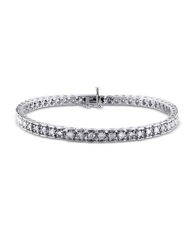 Concerto Diamond Sterling Silver Tennis Bracelet-DIAMOND-One Size