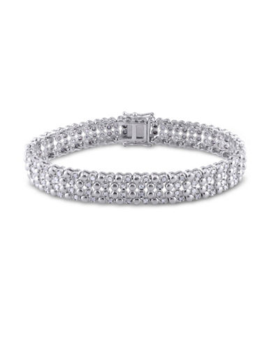 Concerto Four-Row Diamond Sterling Silver Tennis Bracelet-DIAMOND-One Size