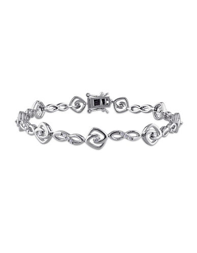 Concerto Diamond Sterling Silver Infinity Link Bracelet-DIAMOND-One Size