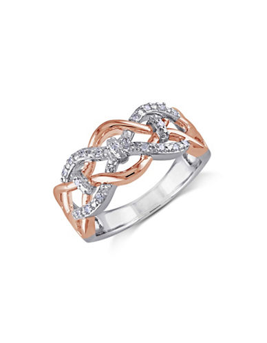 Concerto Diamond Openwork Two-Tone Sterling Silver Ring-DIAMOND-7