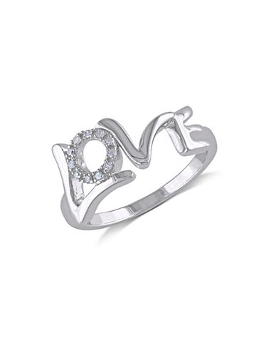Concerto Diamond Love Sterling Silver Ring-DIAMOND-6