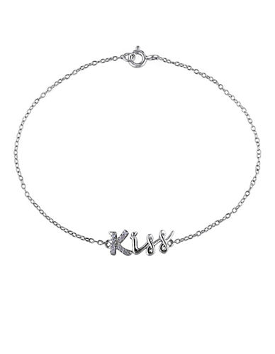 Concerto Diamond Kiss Sterling Silver Bracelet-DIAMOND-One Size