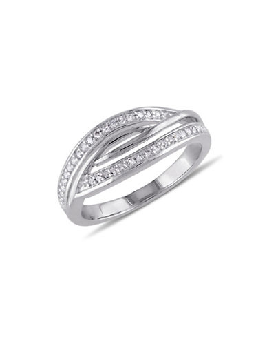 Concerto Woven Diamond Sterling Silver Ring-DIAMOND-7