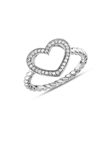 Concerto Diamond Twisted Band Heart Ring-DIAMOND-6