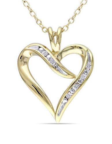 Concerto Diamond Swirl Heart Necklace-DIAMOND-One Size