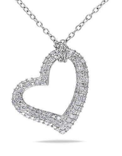 Concerto Pave Diamond Heart Necklace-DIAMOND-One Size