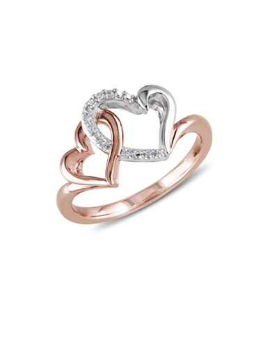 Concerto Diamond Two-Tone Interlocking Heart Ring-DIAMOND-5