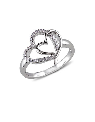 Concerto Diamond Double Heart Ring-DIAMOND-7