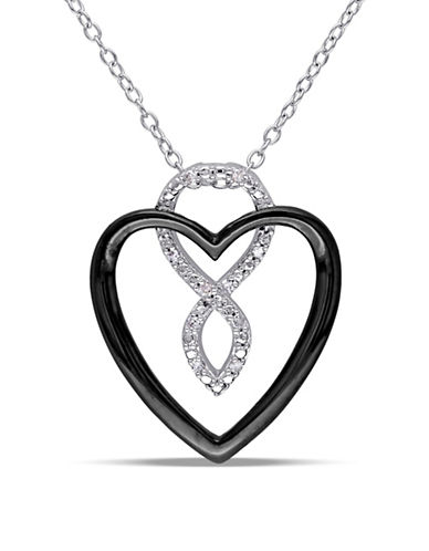 Concerto Diamond Two-Tone Heart Necklace-DIAMOND-One Size