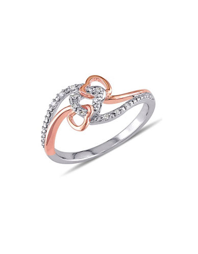 Concerto Diamond Two-Tone Triple Heart Ring-DIAMOND-8