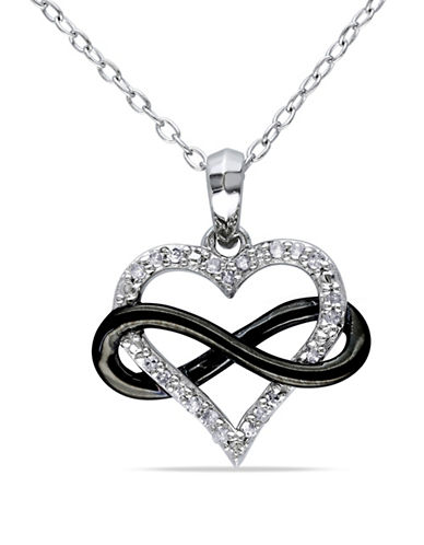 Concerto Diamond Heart Infinity Necklace-DIAMOND-One Size