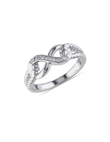 Concerto Diamond Infinity Ribbed Band Ring-DIAMOND-7