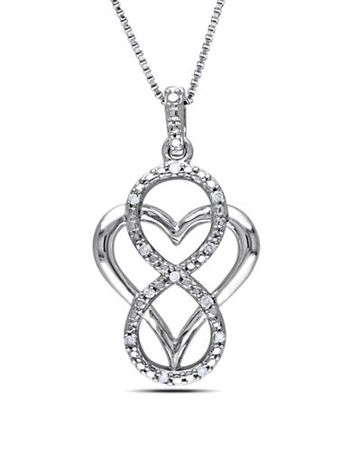 Concerto Diamond Infinity Overlay Heart Necklace-DIAMOND-One Size