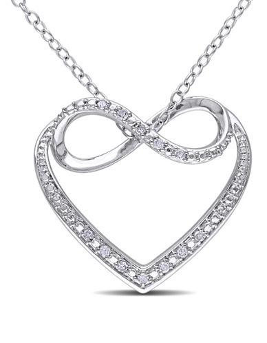 Concerto Diamond Infinity Heart Necklace-DIAMOND-One Size