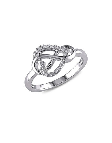 Concerto Diamond and Sterling Silver Infinity Heart Ring-DIAMOND-6