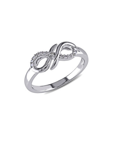 Concerto Diamond and Sterling Silver Infinity Knot Ring-DIAMOND-5