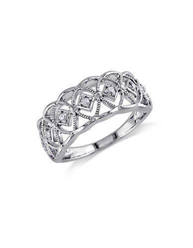 Concerto .10 CT Diamond and Sterling Silver Openwork Ring-DIAMOND-5