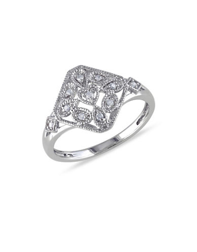 Concerto 0.07TCW Diamond Sterling Silver Vintage Ring-DIAMOND-9