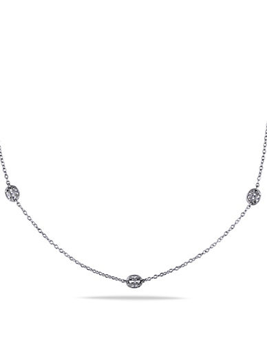 Concerto .33 CT Diamond and Sterling Silver Chain Necklace-DIAMOND-One Size