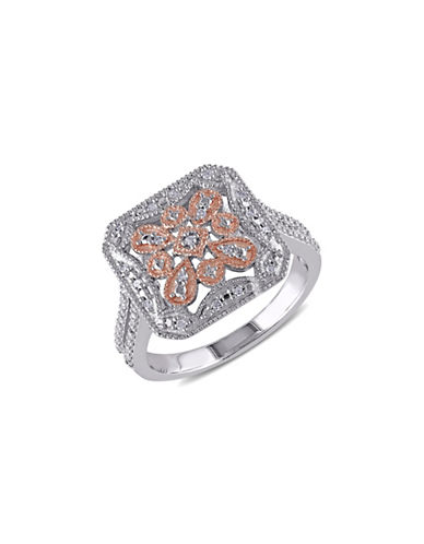 Concerto 0.08 TCW Diamond and Two-Tone Sterling Silver Vintage Ring-DIAMOND-9 plus size,  plus size fashion plus size appare