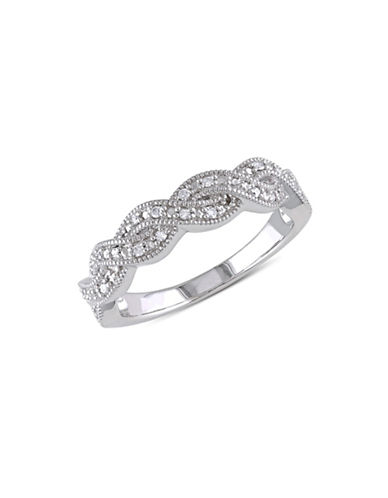 Concerto .10 CT Diamond and Sterling Silver Vintage Crossover Ring-DIAMOND-5