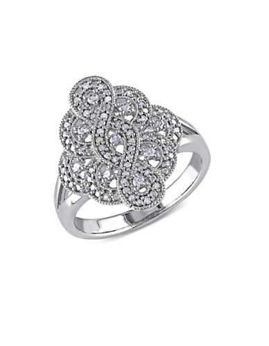 Concerto .25 CT Diamond and Sterling Silver Vintage Ring-DIAMOND-6 plus size,  plus size fashion plus size appare