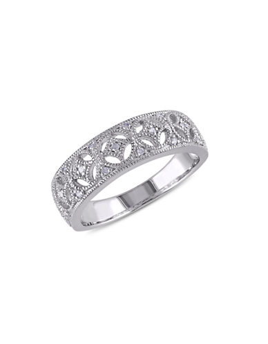 Concerto .10 CT Diamond and Sterling Silver Openwork Vintage Ring-DIAMOND-5