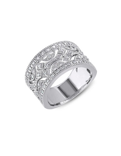 Concerto Diamond and Sterling Silver Openwork Ring-DIAMOND-5