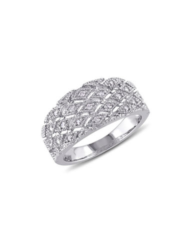 Concerto Diamond and Sterling Silver Cutout Ring-DIAMOND-9