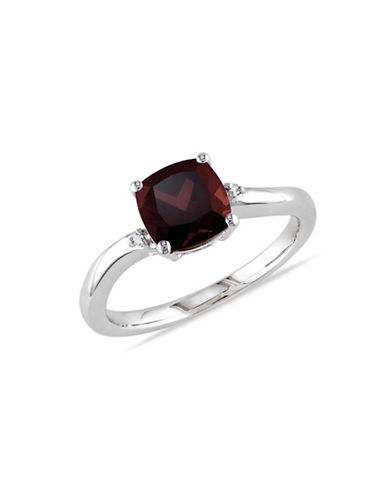 Concerto Garnet and Diamond Accent Sterling Silver Ring-GARNET-8
