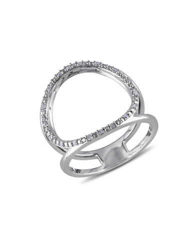 Concerto Sterling Silver 0.10 TCW Diamond Circle Ring-DIAMOND-5