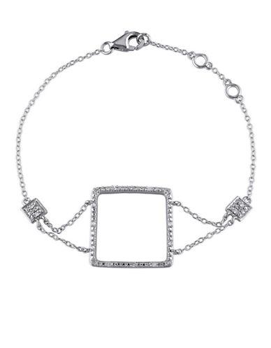 Concerto Dia Square Sterling Silver 0.10 TCW Diamond Bracelet-DIAMOND-One Size