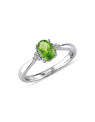 Concerto 0.03TCW Diamond Accent and Peridot Ring-PERIDOT-8