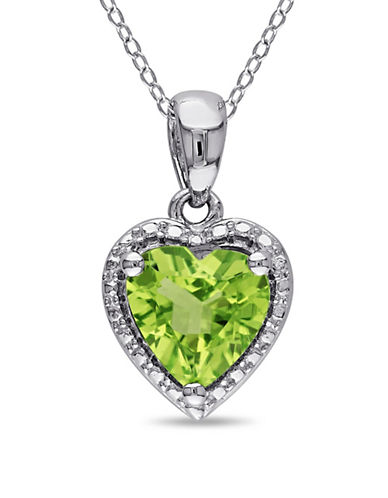 Concerto Sterling Silver and Peridot Heart Necklace-PERIDOT-One Size