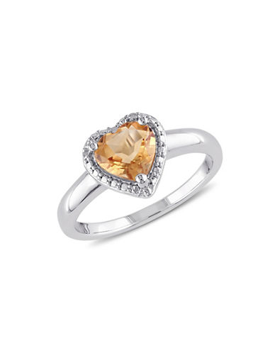 Concerto Citrine Heart Ring-CITRINE-8