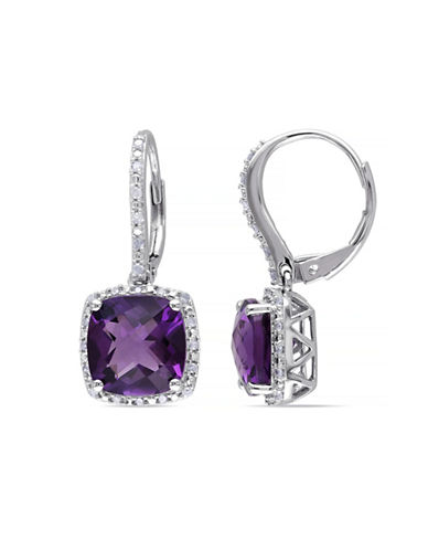 Concerto Amethyst Diamond-Accented Sterling Silver Drop Earrings-AMETHYST-One Size