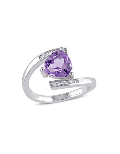 Concerto 0.06TCW Diamond Accent and Amethyst Ring-AMETHYST-7