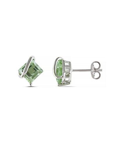 Concerto 2.25TCW Green Amethyst Sterling Silver Stud Earrings-AMETHYST-One Size