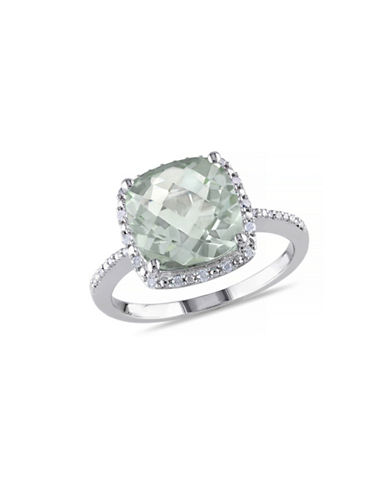 Concerto 4TCW Green Amethyst and Diamond Sterling Silver Halo Ring-AMETHYST-7